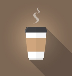 paper cup of coffee flat design vector image vector image