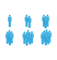 people in groups symbols vector image vector image