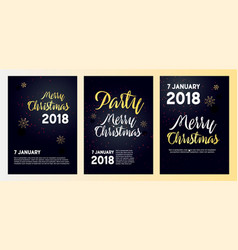 Realistic posters for a christmas party vector