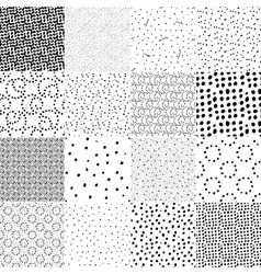 Set of seamless pattern with polka dot texture vector image vector image