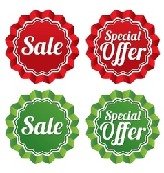 Special offer price tags templates set vector image