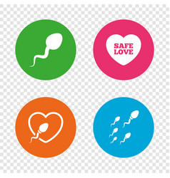 sperm icons fertilization or insemination signs vector image