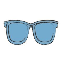 Sunglasses accessorie travel color sketch vector