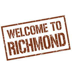 Welcome to richmond stamp vector