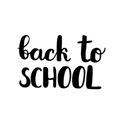 Back to school brush lettering vector
