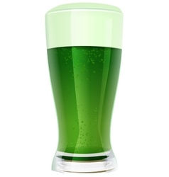 Green beer in glass vector