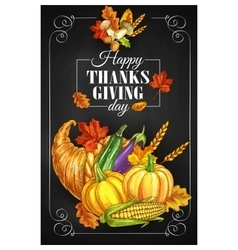 Thanksgiving day holiday greeting poster vector