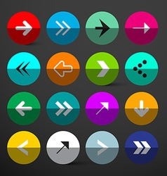 Arrow Buttons Set Colorful Circles with Arrows vector image