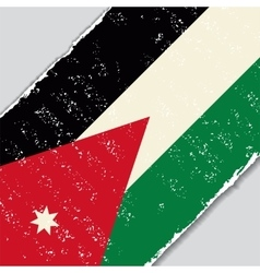Jordan grunge flag vector image
