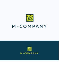 m company logo vector image