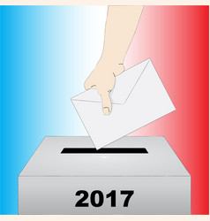 French presidential election vector