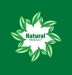 Logo natural product vector