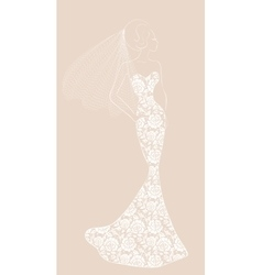 Bride with veil vector