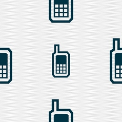 Mobile phone icon sign seamless pattern with vector