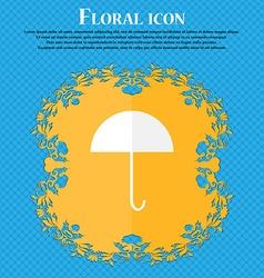 Umbrella sign icon rain protection symbol floral vector