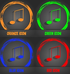 Music note sign icon musical symbol fashionable vector