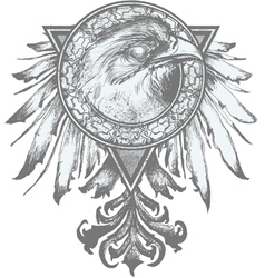 Eagle crest vector