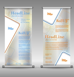 Golf competition roll up banner design vector