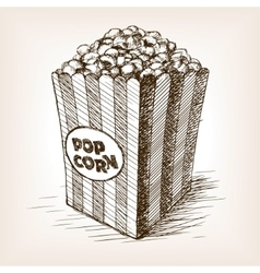 Pop corn sketch style vector