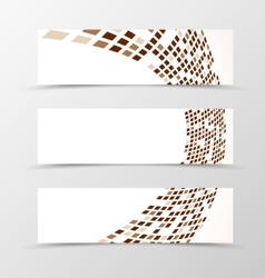 Set of banner wave design vector