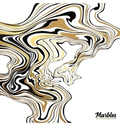 Black white and golden glitter marble style vector image