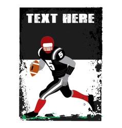 grunge football player vector image