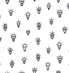 Light bulbs pattern vector image