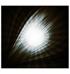Abstract black background Beautiful rays of light vector image vector image