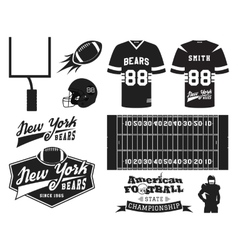 American football uniform t-shirt design with vector