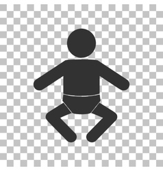 Baby sign Dark gray icon on vector image vector image