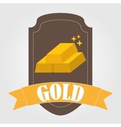Bullion gold vector