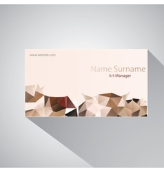 Calling card of art manager vector image
