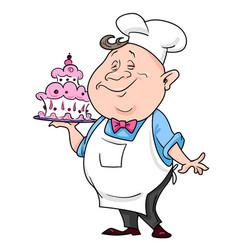 cartoon image of chef vector image vector image
