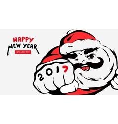 cartoon Santa Clausgreeting cardhappy new year vector image