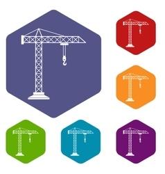 Construction crane icons set vector image vector image