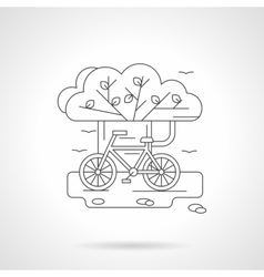 Detailed line for cycling vector image vector image