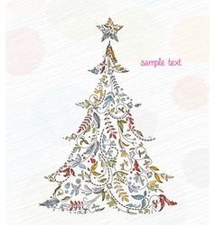 Doodles christmas greeting card vector