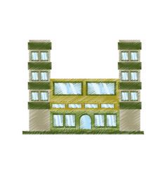 Drawing building classic construction vector