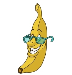 Fresh banana cartoon vector