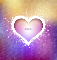 GRUNGE HEART BACKGROUND vector image vector image