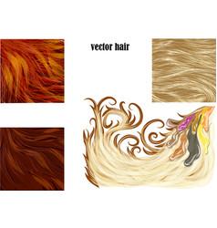 Hair set vector