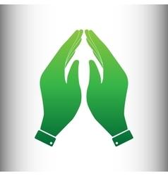 Hand icon green gradient icon vector