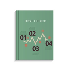 infographic book design on white background Eps10 vector image vector image