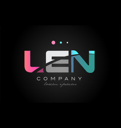 len l e n three letter logo icon design vector image vector image