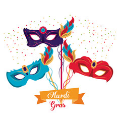Mardi gras masks vector