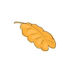 Oak leaf icon cartoon style vector image