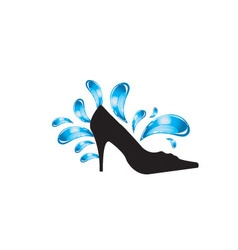 pretty shoes vector image vector image