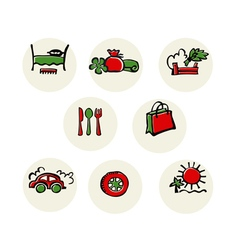 Service icon set vector