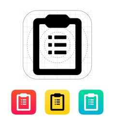 To-do list icon vector