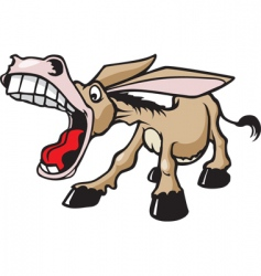 braying donkey vector image